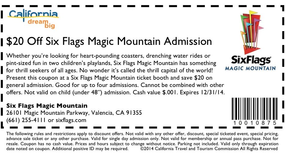 Six flags discovery kingdom coupon codes 2018