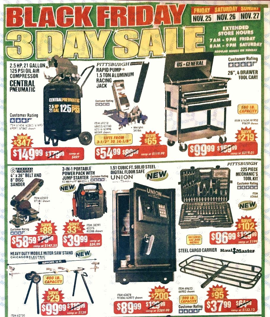 Harbor Freight Black Friday Ads Sales Deals 2015