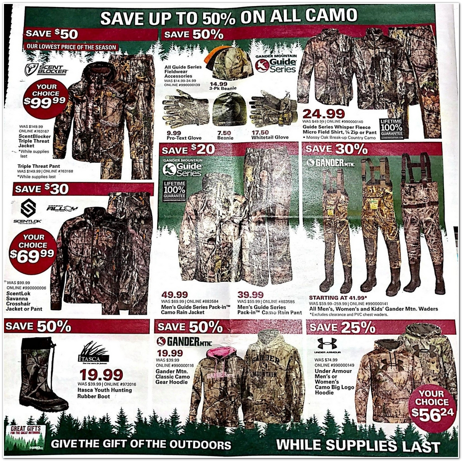 Gander Mountain Black Friday Ads Sales Doorbusters And
