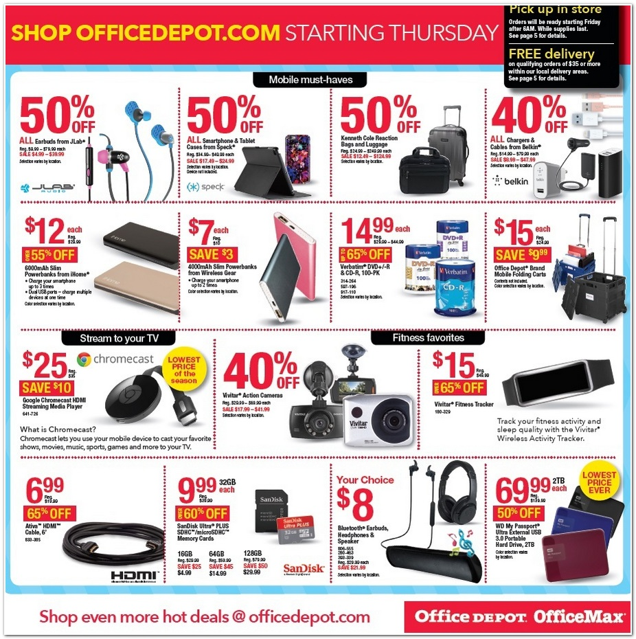 office depot black friday ads sales and deals 2015. Black Bedroom Furniture Sets. Home Design Ideas