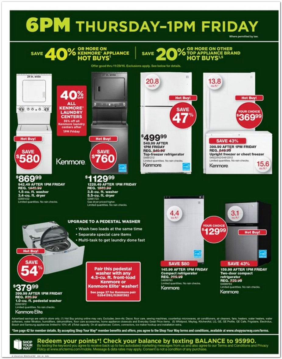 Sears Black Friday Ads Sales And Deals 2016 2017