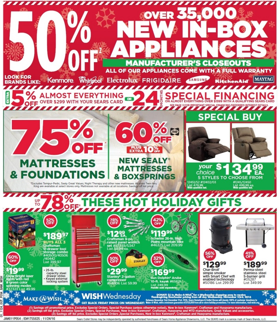 sears outlet black friday ads sales doorbusters and deals 2017