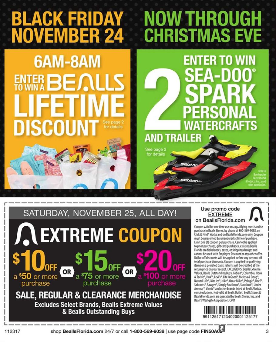 Bealls florida black friday ads sales doorbusters and for Black friday fishing deals