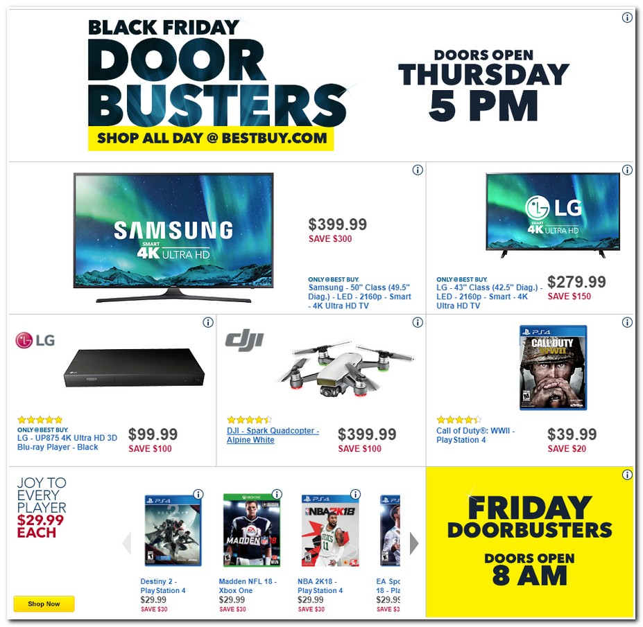 Best online tv deals black friday 2018
