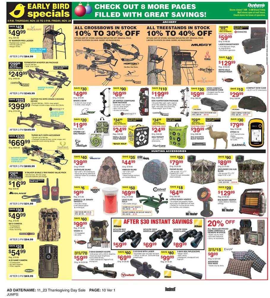 graphic relating to Dunhams Coupons Printable known as Dunhams Sporting activities Black Friday Advertisements, Income, Discounts, Doorbusters