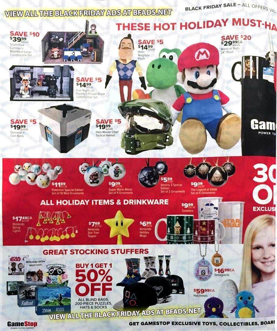 GameStop unveils the full list of discounted gaming items such as consoles, accessories, video games, and pre-owned hardware as part of its Cyber Monday Deals tomorrow.