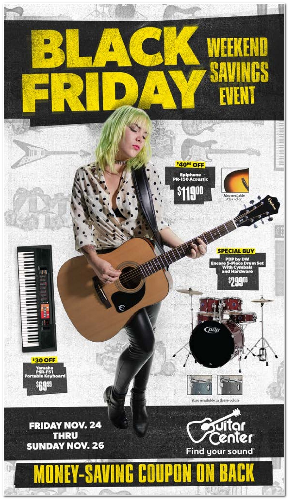 Guitar center black friday coupon 2018