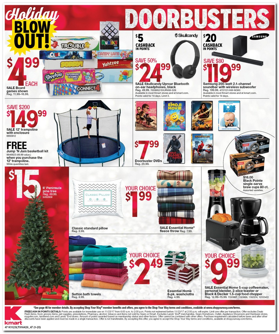 Kmart will launch its Black Friday sale on Thanksgiving at 6 a.m. again this year, making the event one of the earliest of the major Black Friday sales to begin. Doorbusters begin 6 p.m. on Thanksgiving; Prior to Black Friday, Kmart is running a pre Black Friday sale, offering 10% to 40% off everything in /5(25).
