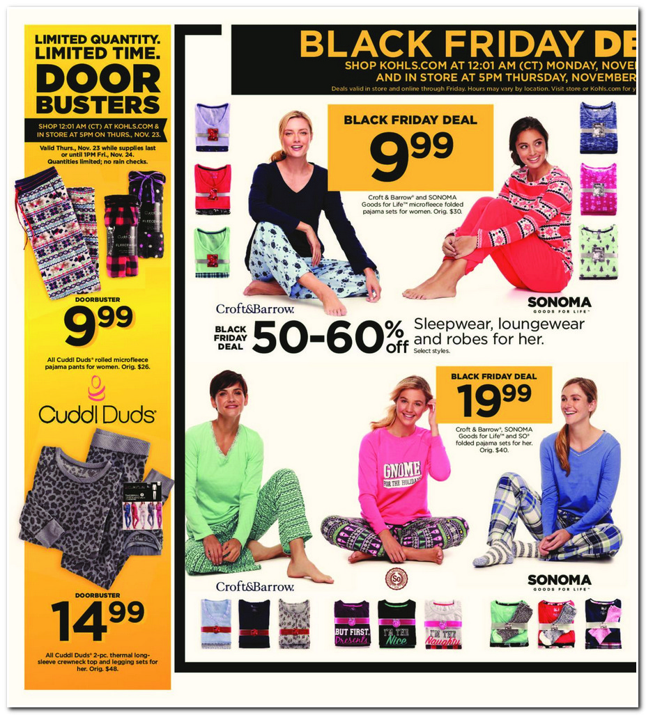 Kohl S Sales This Weekend: Kohls Black Friday Ads Deals And Sales 2017, Promo Codes