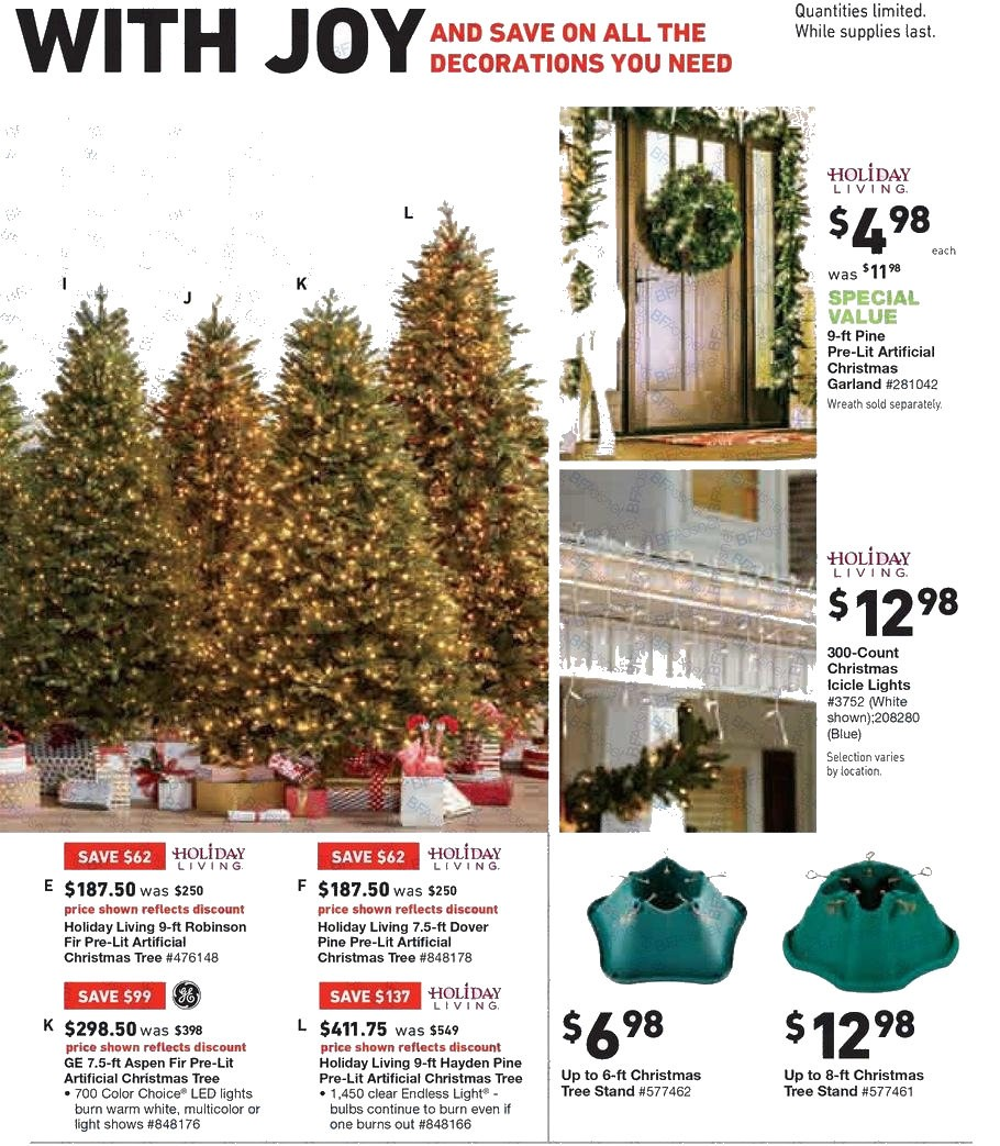 amazing artificial christmas tree sales online 5 lowes black friday ads deals doorbusters sales 2017 10jpg - Black Friday Deals On Christmas Trees