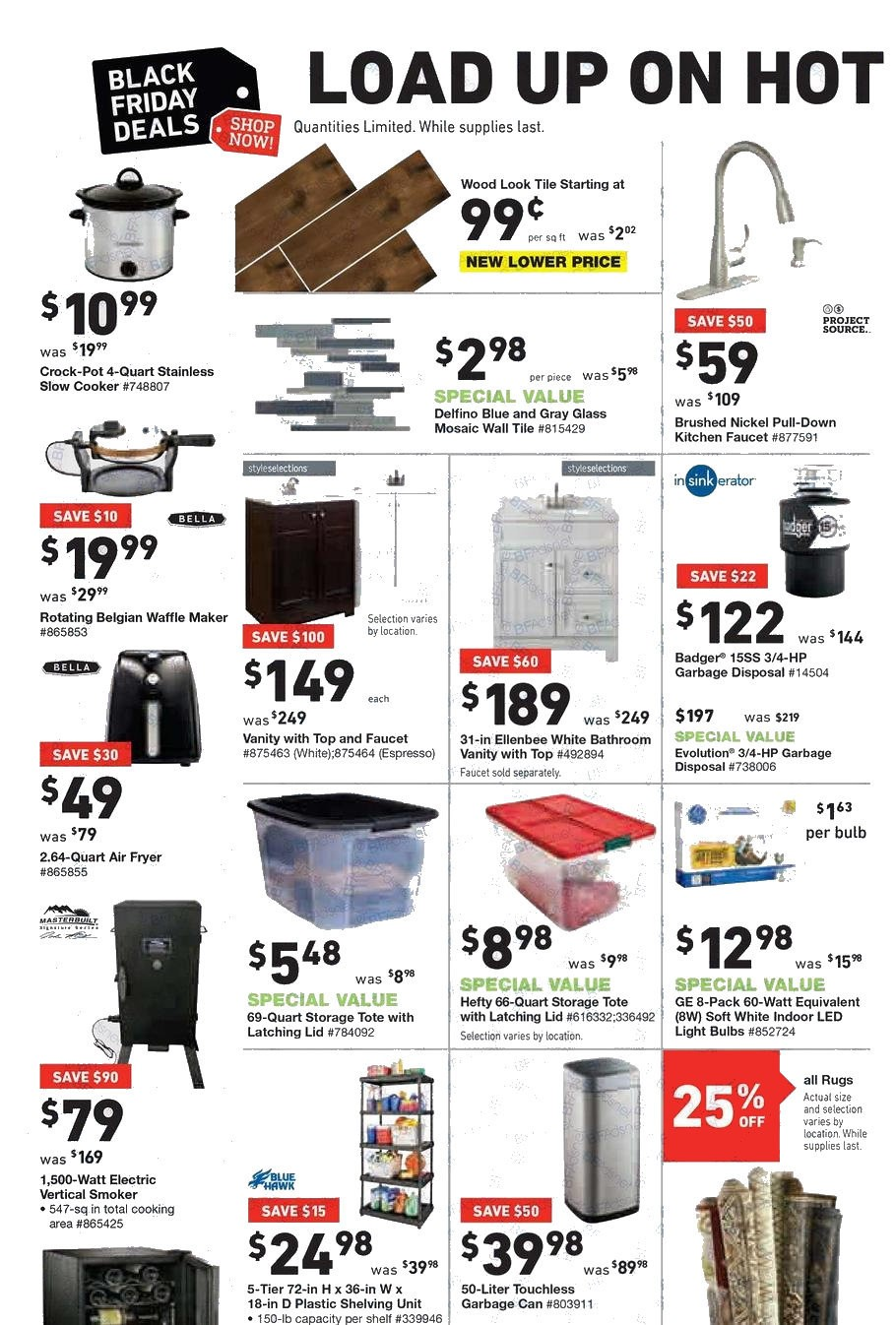 Lowes Black Friday Ads Sales Deals Doorbusters 2017