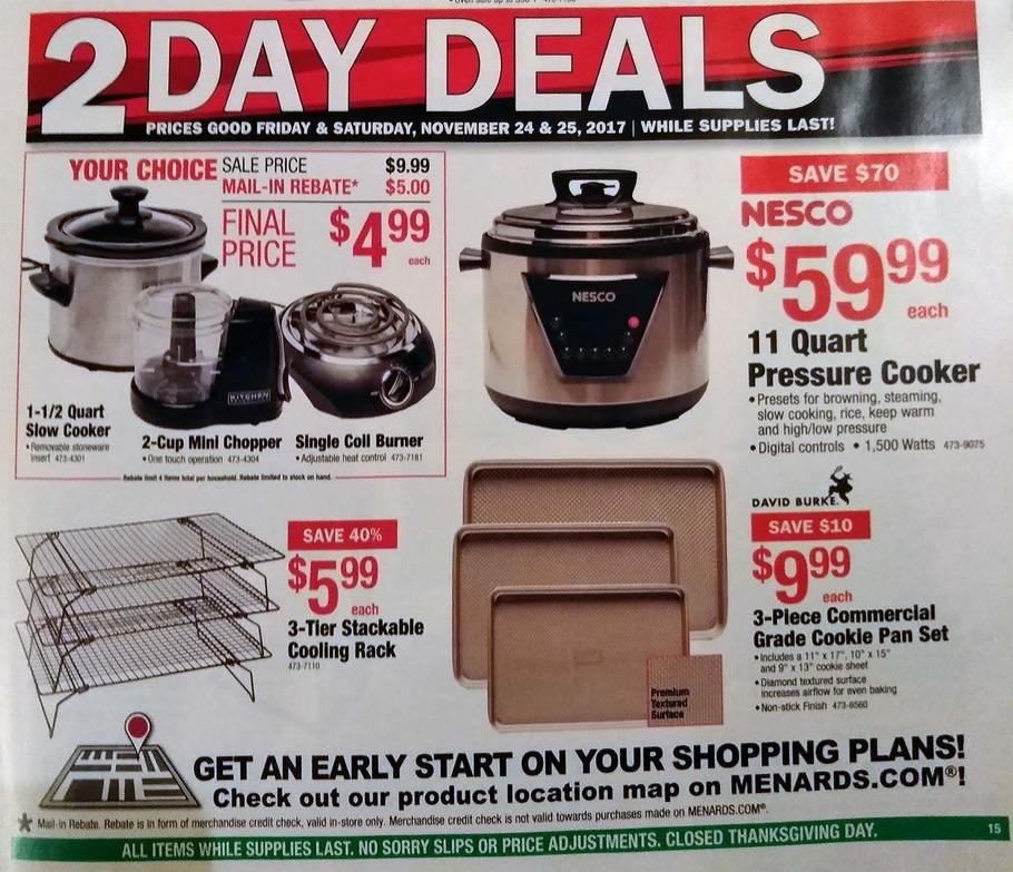 Menards black friday deals 2018