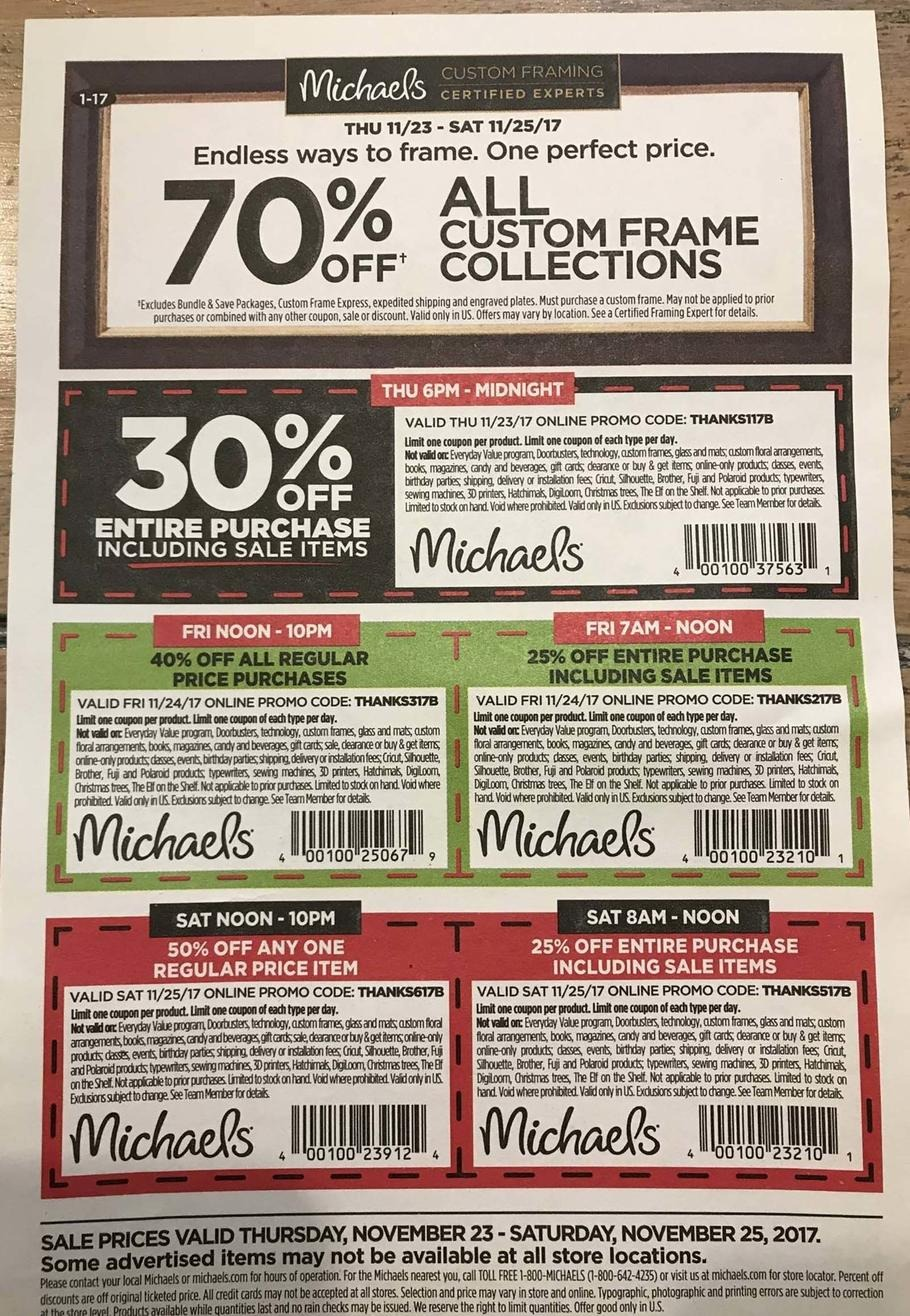 check out some of the hottest michaels black friday deals below - Michaels Frames Coupons