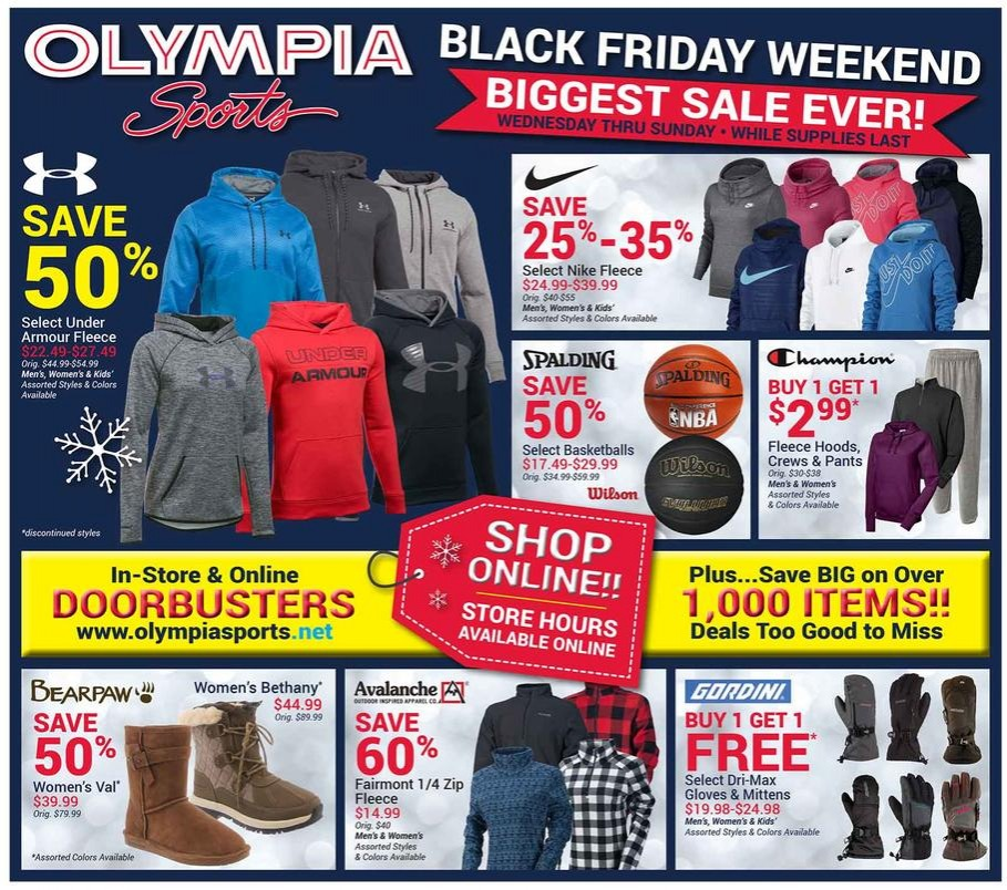 Olympia Sports Black Friday 2015: Olympia Sports Black Friday Ads, Sales, Deals, Doorbusters