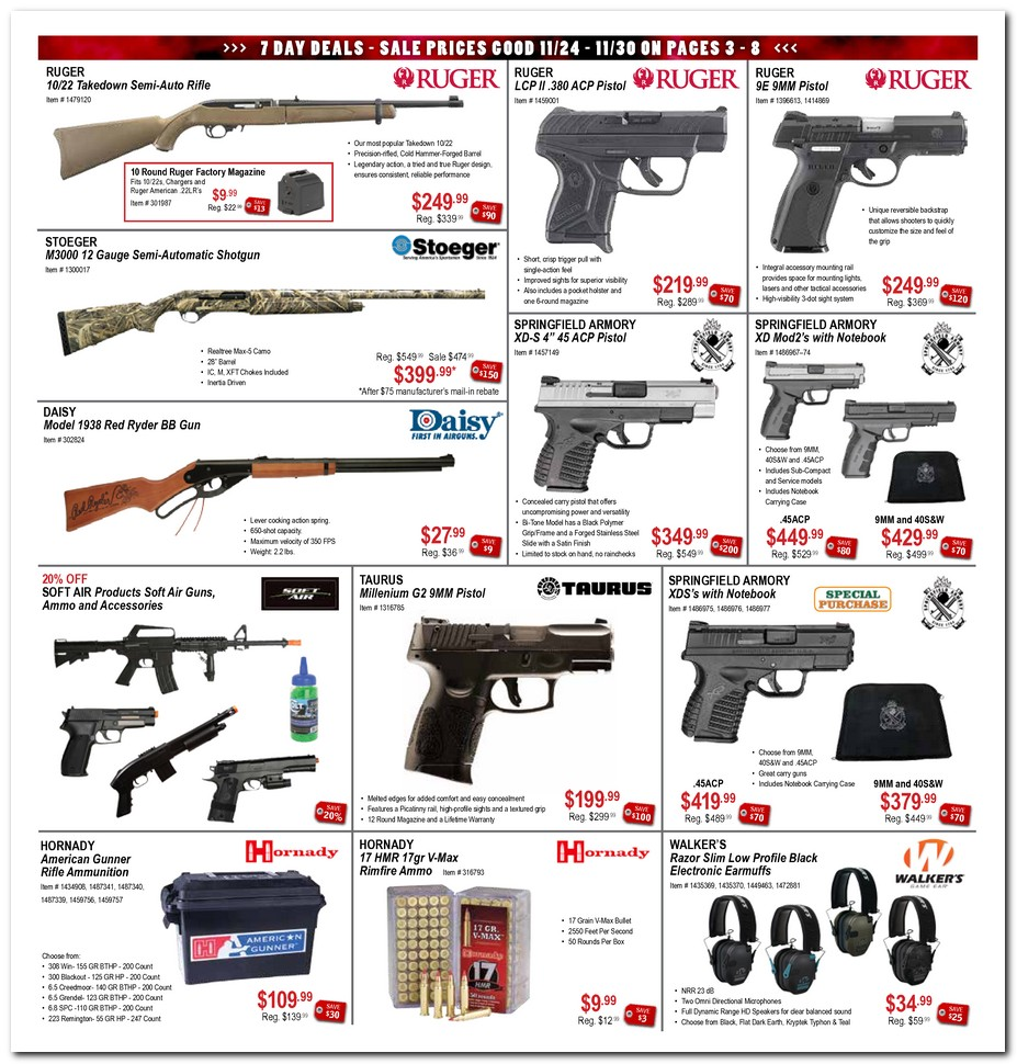 Sportsman's Outdoor Superstore provides a real-time inventory of in-stock guns for sale online. For your piece of mind, our online store will not allow you to complete a purchase, unless the gun you want is available and ready to ship. Unlike most online gun dealers, we stock almost every firearm we sell in our own warehouse.