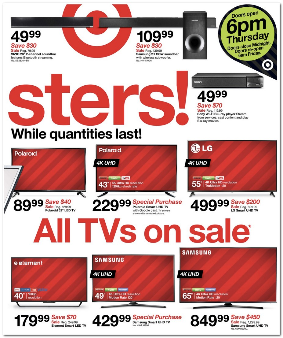 Target Black Friday Ads, Sales, And Deals 2017, Promo