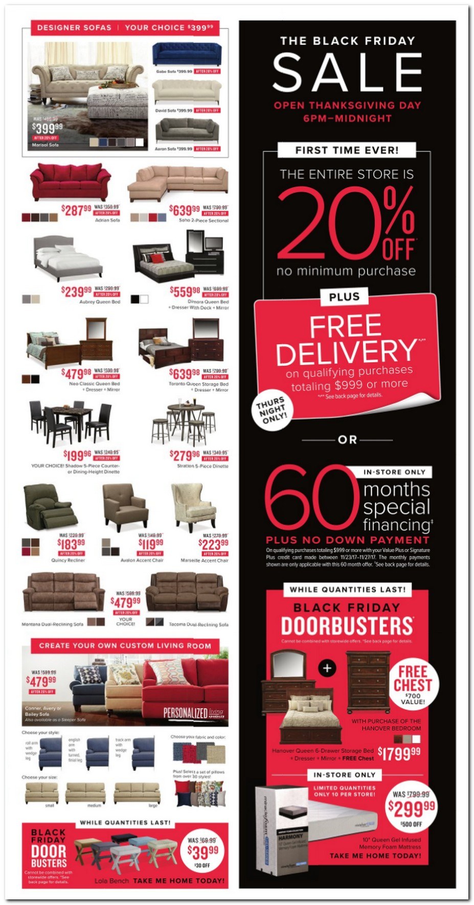 value city furniture black friday ads sales deals 2017 promo codes deals 2018 couponshy. Black Bedroom Furniture Sets. Home Design Ideas