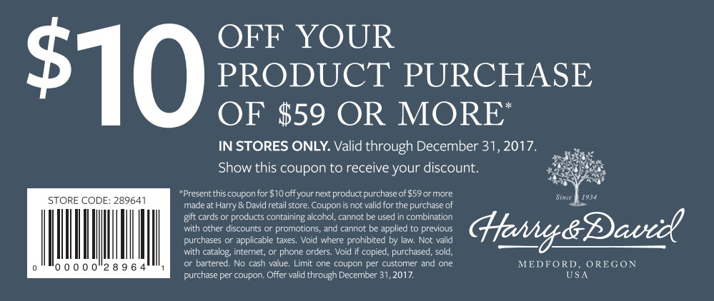 Harry and david coupon codes 2018