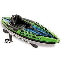 5736852 - Intex Challenger K1 Inflatable Kayak w/ Oars & High Output Air Pump for $50