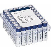 5766728 - 48-Pack Insignia Alkaline Batteries (AA or AAA) For $7