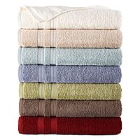 5771932 - Home Expressions Bath Towels, Solid or Ombre Stripe for $2.10