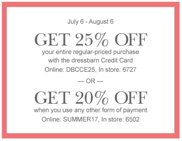 Dress barn coupon code