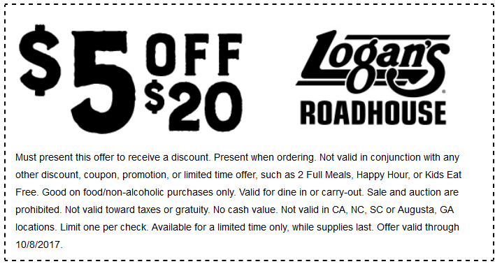 LOGANS ROADHOUSE COUPONS