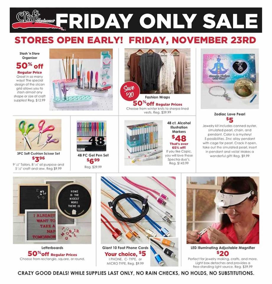 Craft Warehouse Black Friday Ads Sales And Deals 2018 Couponshy