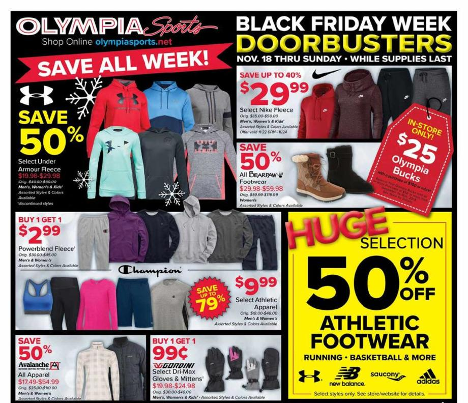 image regarding Olympia Sports Printable Coupons referred to as Olympia Sports activities Black Friday Advertisements, Gross sales, Bargains, Doorbusters