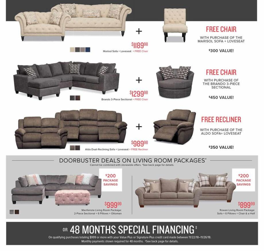 Value City Furniture Black Friday Ads Sales Deals 2018
