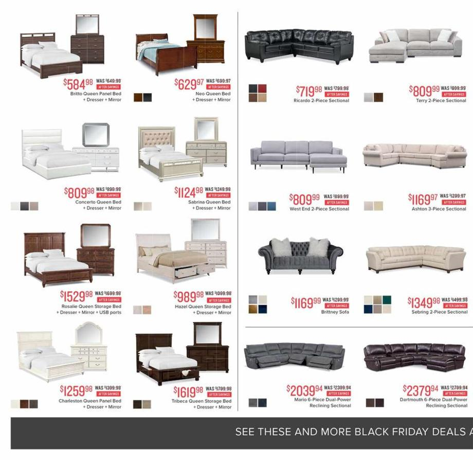 Sales Furniture: Value City Furniture Black Friday Ads, Sales, Deals 2018
