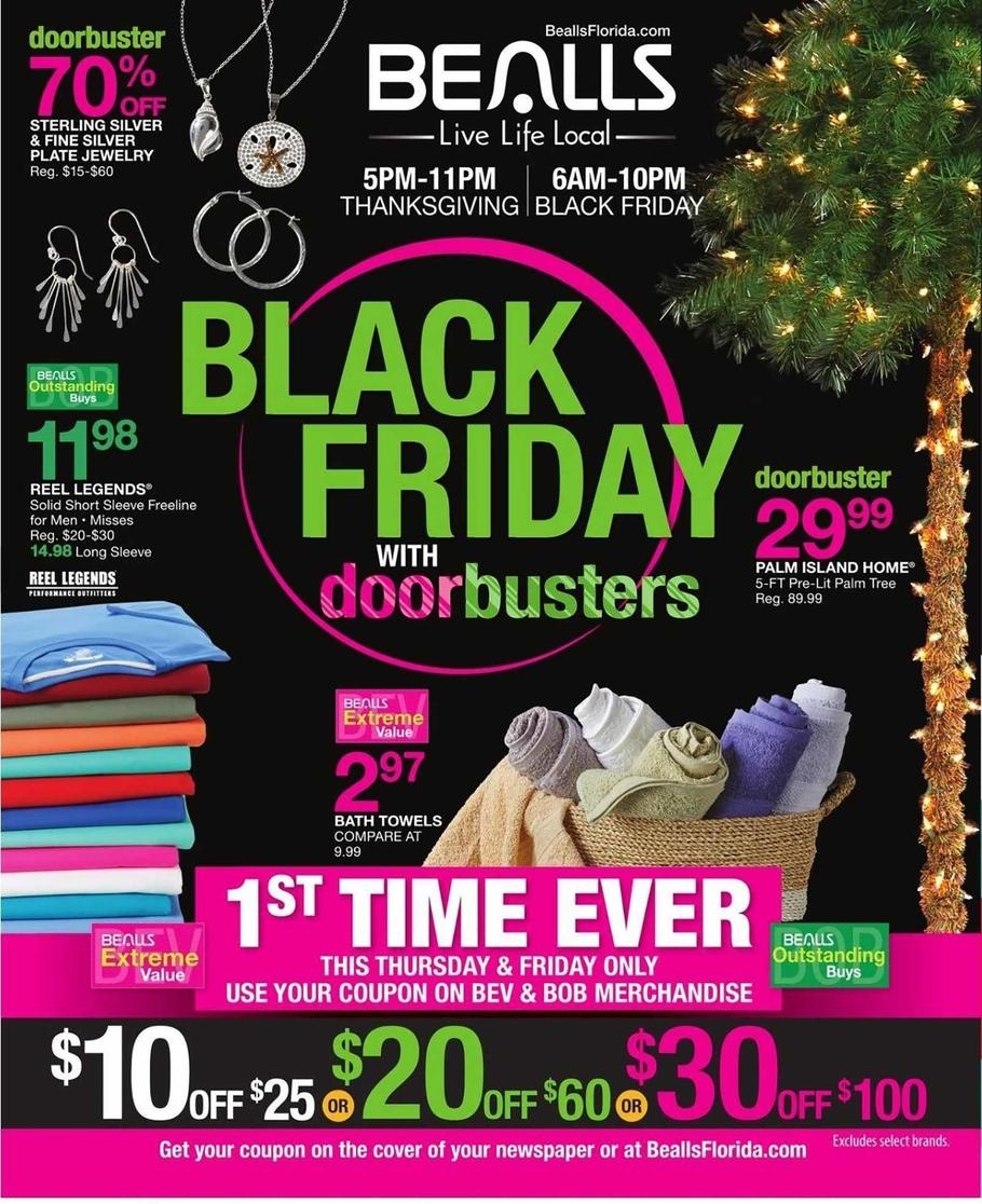 graphic regarding Free Printable Bealls Florida Coupon referred to as Bealls Florida Black Friday Commercials, Income, Doorbusters, and