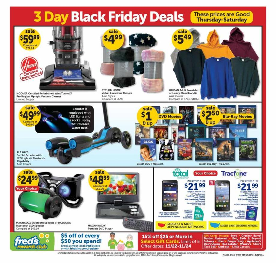 Ashley Furniture Black Friday Ads 2016: Fred's Black Friday Ads Sales Deals Doorbuster 2018