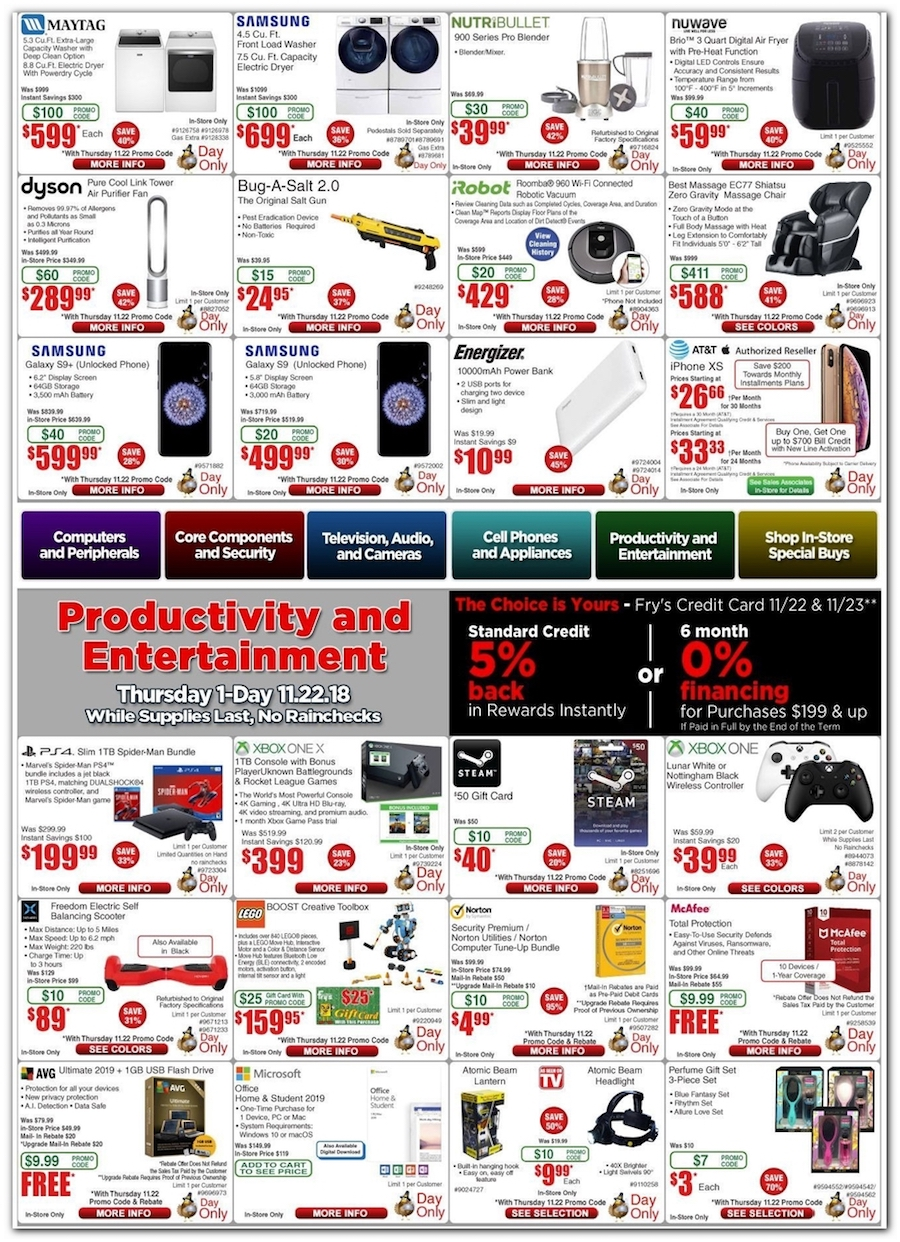 Fry S Electronics Black Friday Ads Sales Doorbusters