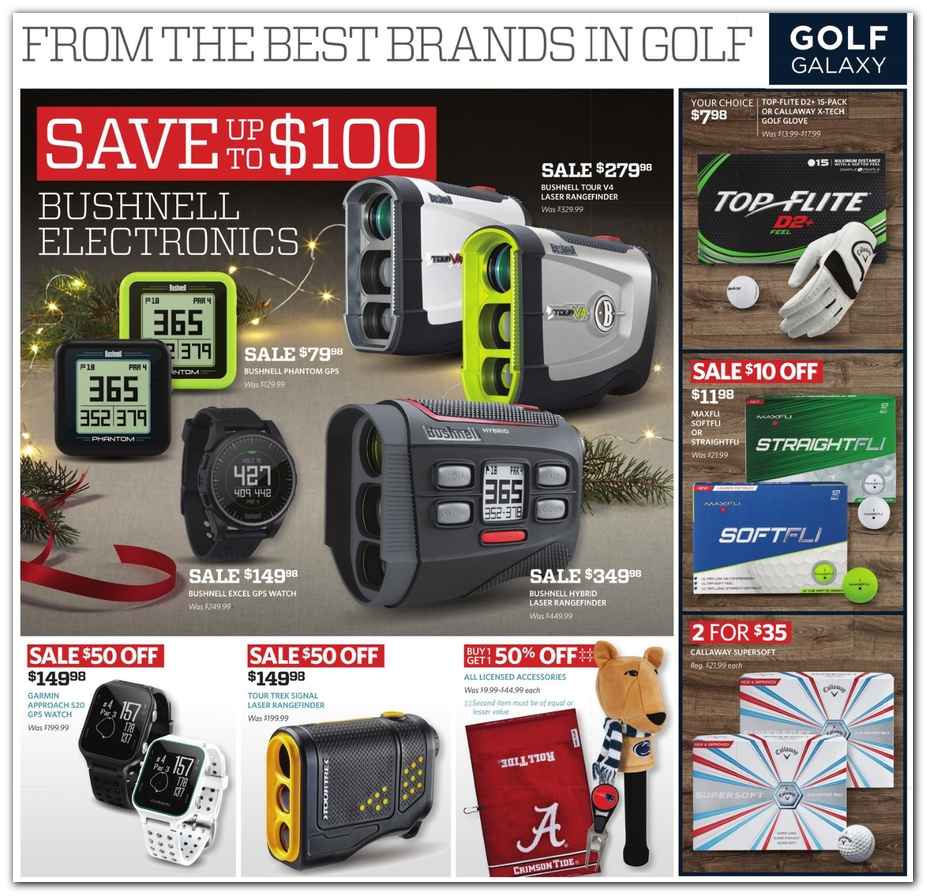image relating to Craft Warehouse Coupons Printable named Golfing Galaxy Black Friday Advertisements Income Offers Doorbusters 2018
