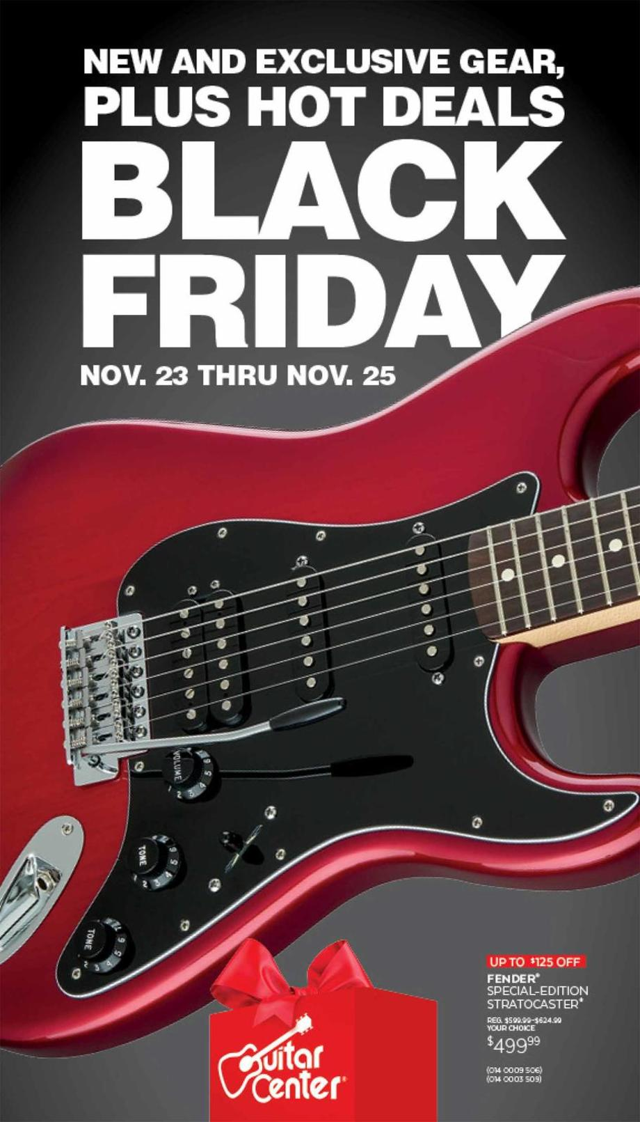 image relating to Guitar Center Printable Coupon named Guitar Centre Black Friday Commercials, Gross sales, and Discounts 2018