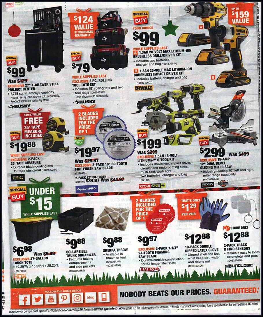 Home Depot Black Friday Ads Sales Deals Doorbusters 2018