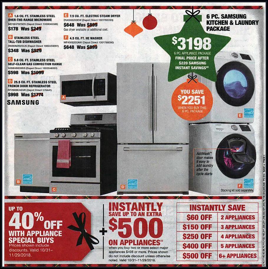 Home Depot Black Friday Ads Sales Deals Doorbusters 2018