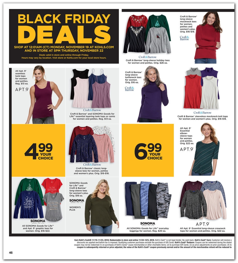 Kohls Black Friday Ads Deals And Sales 2018 Couponshy