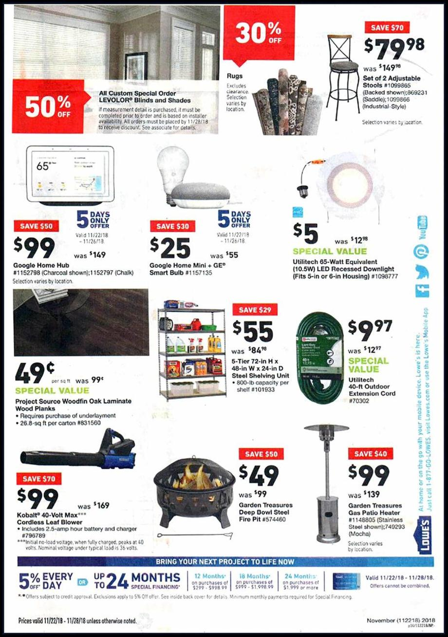 Lowes Promotional Code Black Friday
