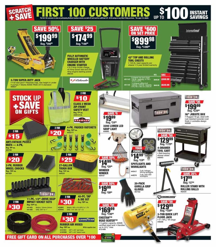 picture regarding Northern Tool Coupon Printable named Northern Instrument Black Friday Adverts, Income, Specials, Doorbusters