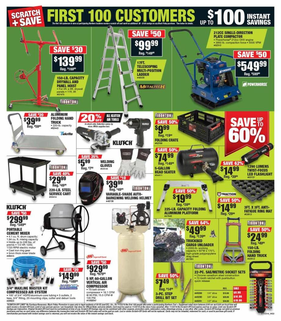 graphic regarding Northern Tool Coupon Printable referred to as Northern Device Black Friday Commercials, Income, Offers, Doorbusters