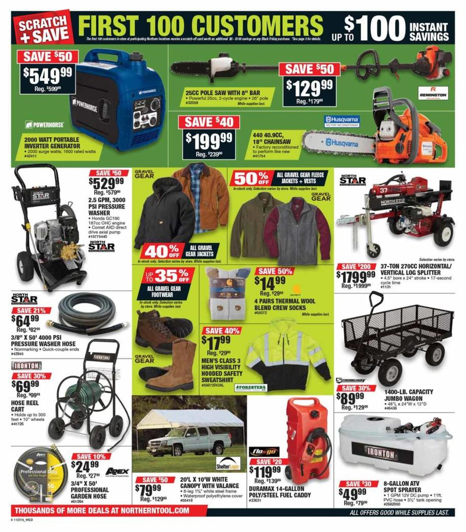 picture about Northern Tool Printable Coupon titled Northern Instrument Black Friday Advertisements, Profits, Bargains, Doorbusters