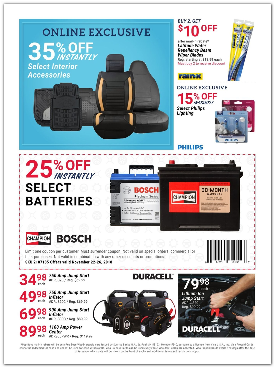 Pep Boys Store Hours >> PepBoys Black Friday Ads Sales Doorbusters and Deals 2018 – CouponShy