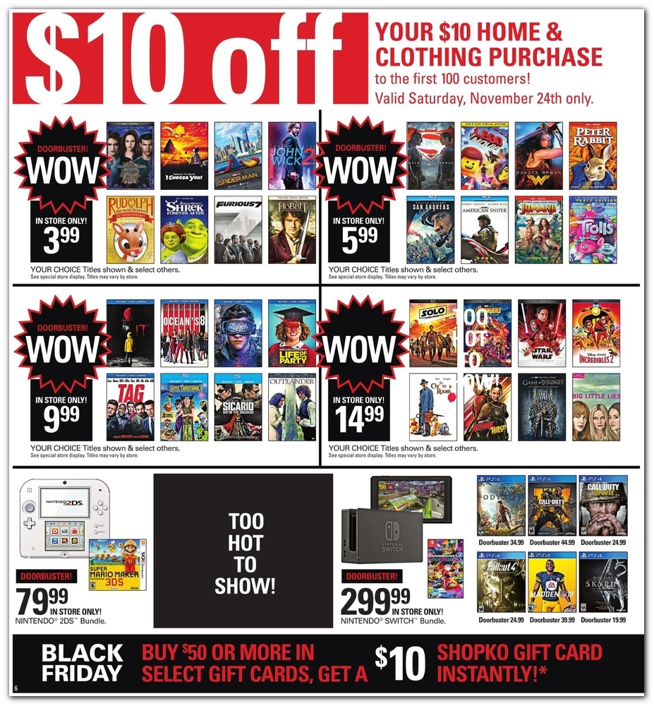 picture regarding Shopko 20 Off Printable Coupon identified as Shopko Black Friday Commercials, Gross sales, and Discounts 2018 CouponShy