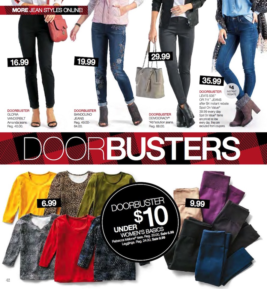 picture relating to Stage Stores Printable Coupons known as Issue Retail store Black Friday Advertisements Income Specials Doorbusters 2018