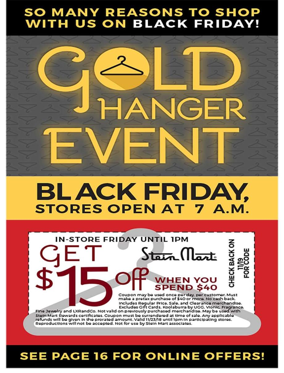 photo about Stein Mart in Store Printable Coupons titled Stein Mart Black Friday Advertisements, Profits, and Offers 2018 CouponShy