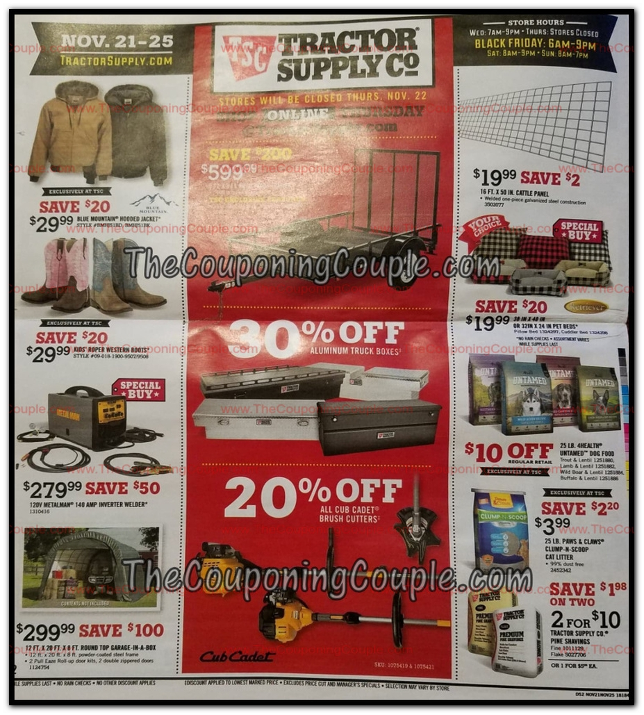 Tractor Supply Black Friday Ads Sales And Deals 2018