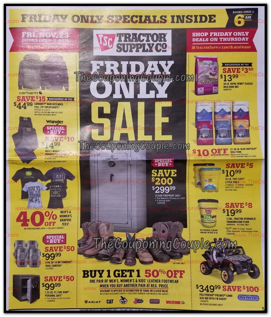 image relating to Printable Tractor Supply Coupons known as Tractor Shipping Black Friday Advertisements, Revenue, and Discounts 2018