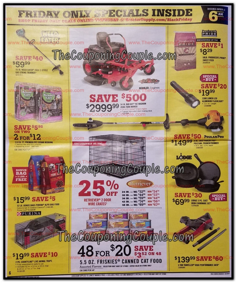 picture about Printable Tractor Supply Coupon identified as Tractor Present Black Friday Adverts, Revenue, and Discounts 2018
